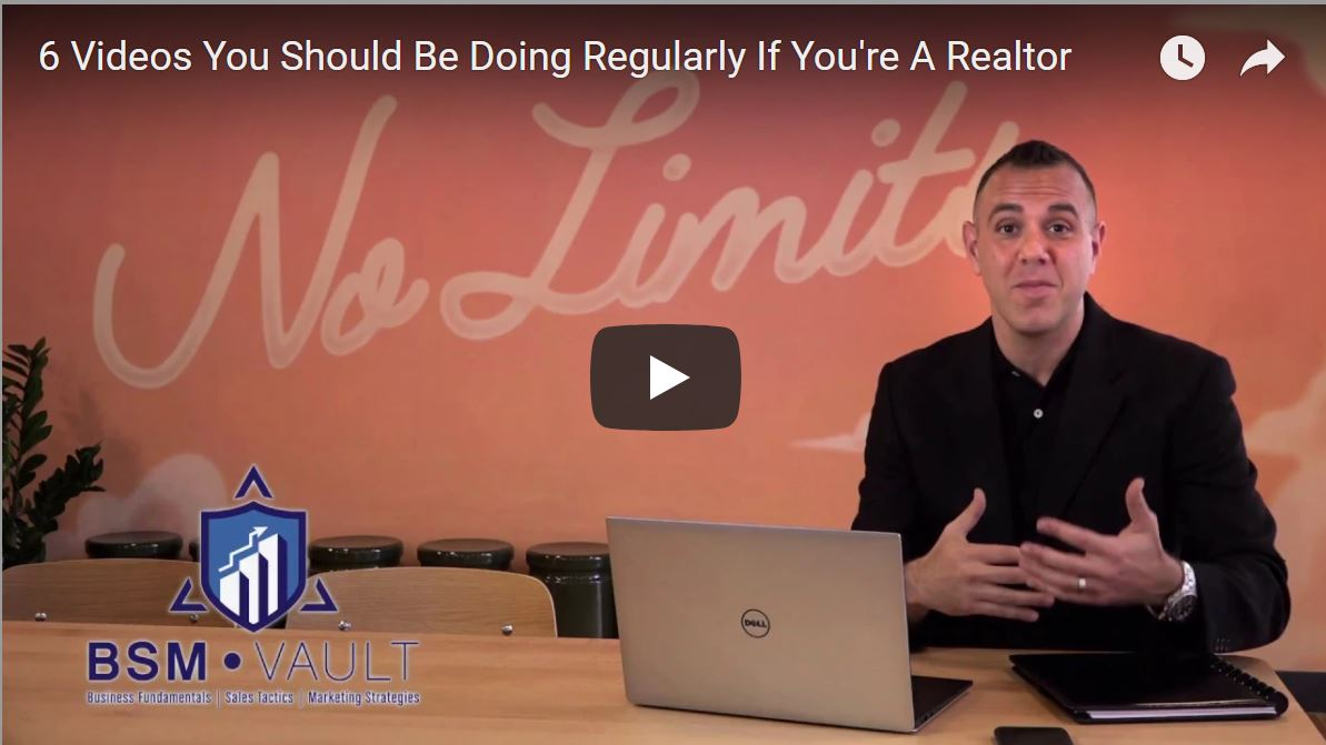 6 Videos You Should Be Doing Regularly As A Realtor [VIDEO]