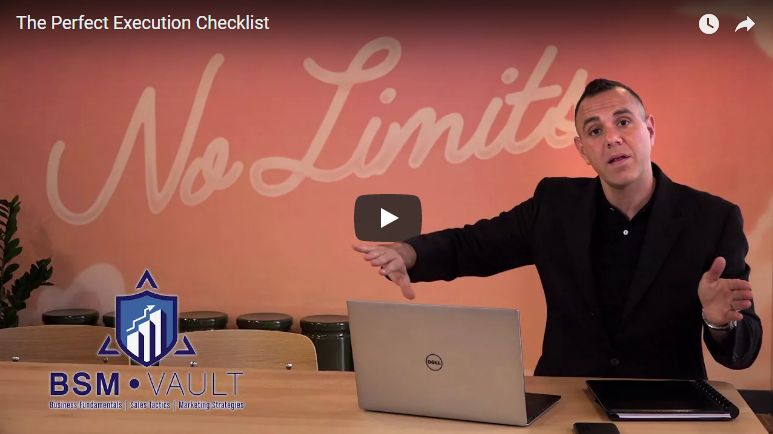 The Perfect Execution Checklist [VIDEO]